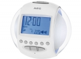 Радиочасы AEG MRC 4117 weiss light and sound