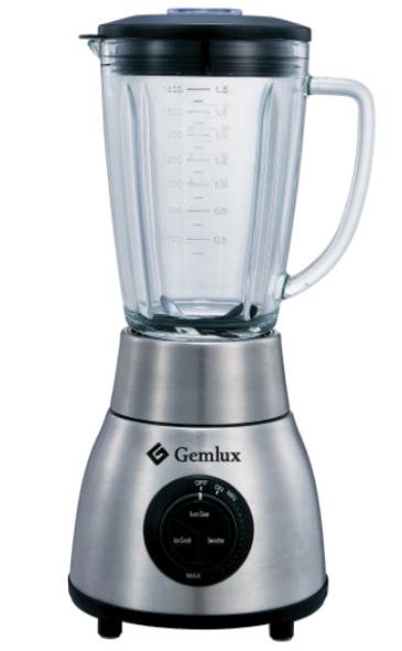 GEMLUX GL-BL1200G Блендер настольный со стеклянным стаканом емкостью 1,8 л с крышкой и мерным колпачком